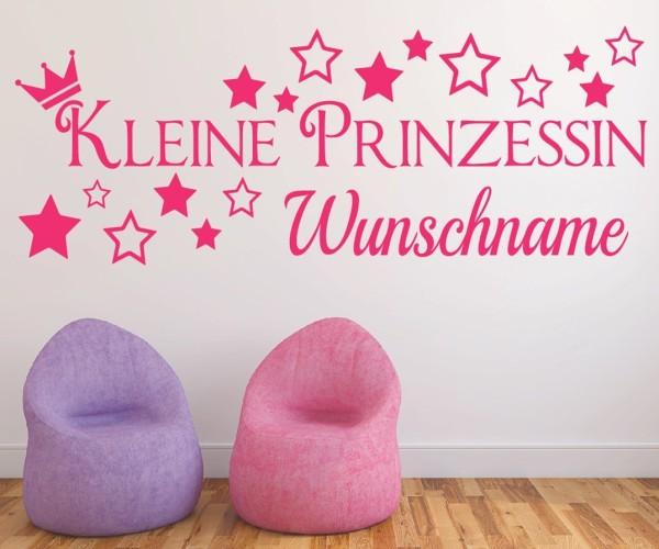 Wandtattoo - Kleine Prinzessin / Little Princess mit Wunschname   3