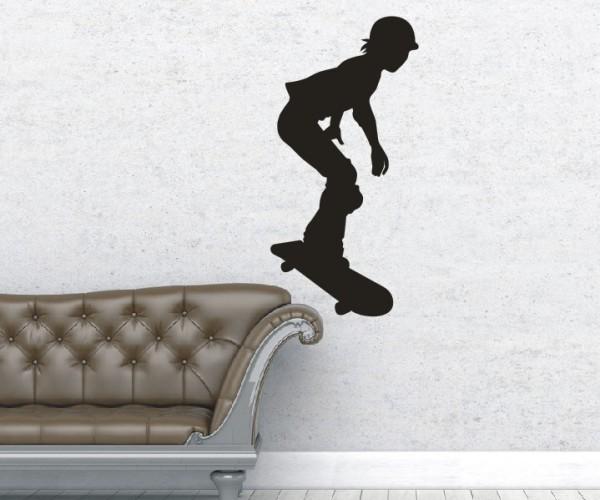 Wandtattoo - Inliner & Skateboard - Silhouette / Schattenmotiv - Variante 9