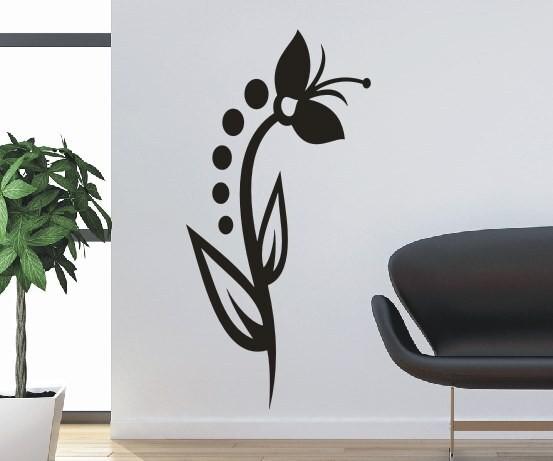 Wandtattoo - Blumenmotiv / Blumenranke - Variante 109