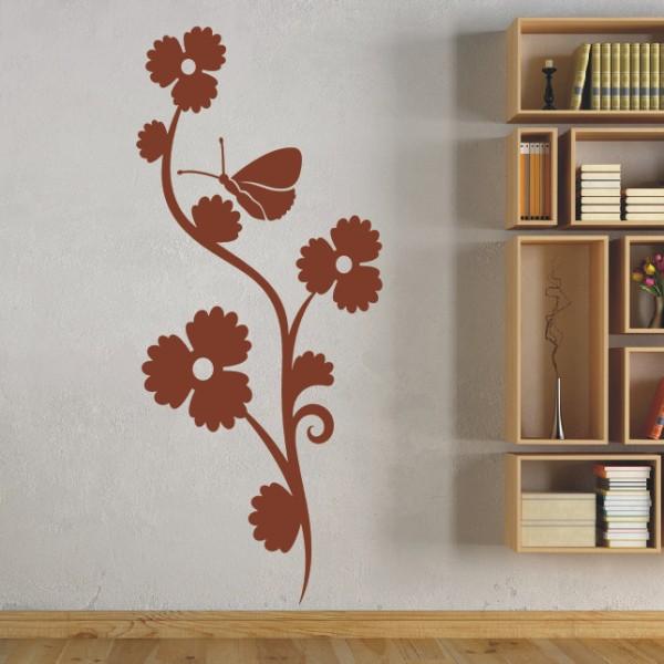 Wandtattoo - Blumenmotiv / Blumenranke   128