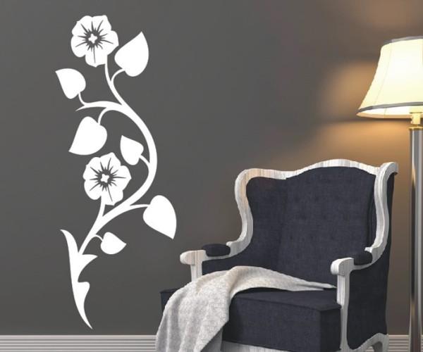 Wandtattoo - Blumenmotiv / Blumenranke - Variante 182