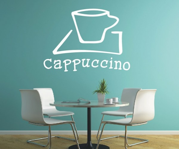 Wandtattoo - Küchen Wandtattoo - Tee Kaffee Küche Esszimmer cappuccino Wandbild Wanddeko-2