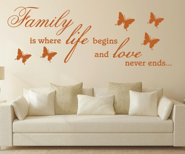 Wandtattoo - Family is where life begins and love never ends...   2