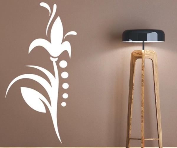 Wandtattoo - Blumenmotiv / Blumenranke - Variante 124