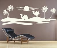 Wandtattoo Silhouette kaufen Landschaft Wüste