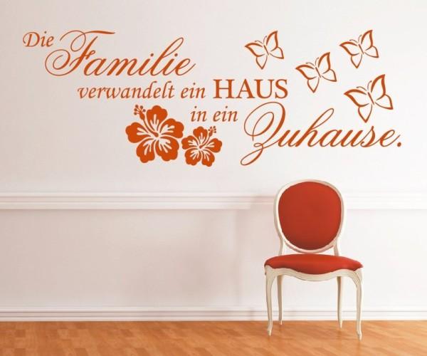 Wandtattoo - Die Familie verwandelt ein HAUS in ein Zuhause. - Variante 1