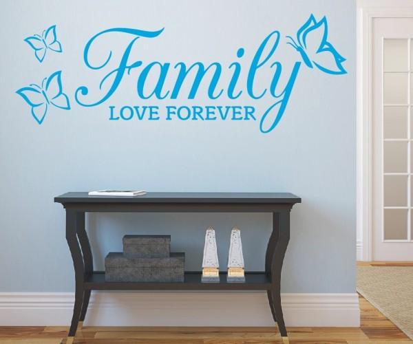 Wandtattoo - Family love forever - Variante 4