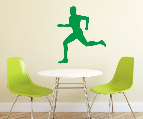 Wandtattoo - Leichtathletik - Silhouette / Schattenmotiv - Variante 2
