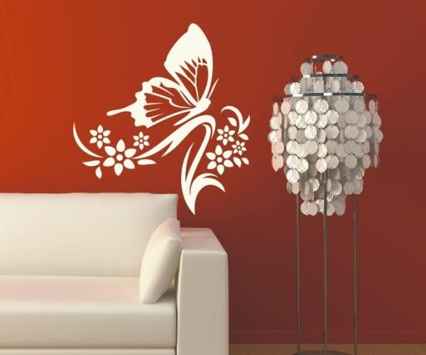 Wandtattoo - Blumenmotiv / Blumenranke - Variante 254