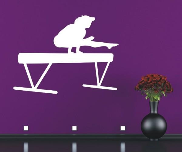 Wandtattoo - Turnen & Gymnastik - Silhouette / Schattenmotiv - Variante 2