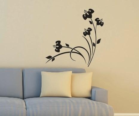 Wandtattoo - Blumenmotiv / Blumenranke - Variante 9