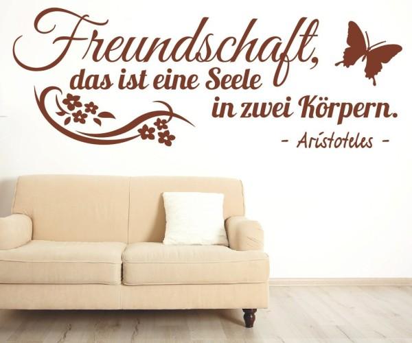 Wandtattoo - Freundschaft, das ist eine Seele in 2 Körpern. - Aristoteles | 2