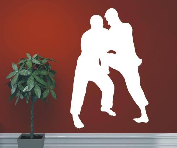 Wandtattoo - Kampfsport - Silhouetten / Schattenmotiv - Variante 10
