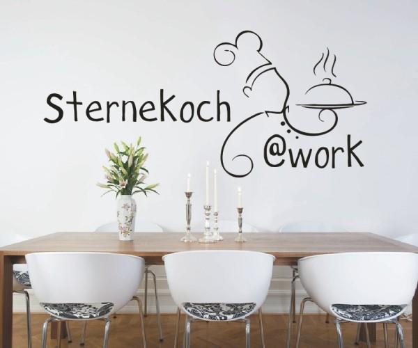 Wandtattoo - Küche - Tee Kochen Küche Esszimmer Koch Wandbild Wanddeko Bild