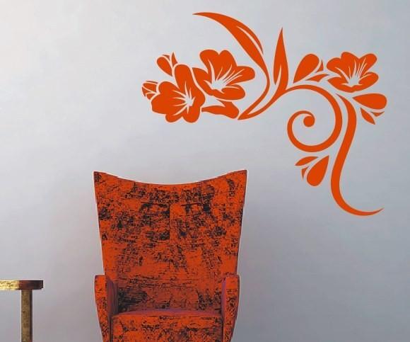 Wandtattoo - Blumenmotiv / Blumenranke - Variante 36