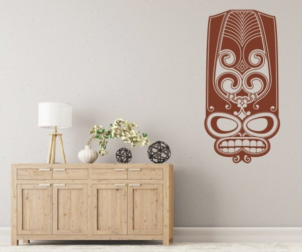 Wandtattoo - Maori - Maskenmotiv - Variante 23