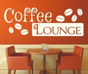 Wandtattoos kaufen für Küche, Kaffee, Esszimmer, Cocktail - Coffee Lounge