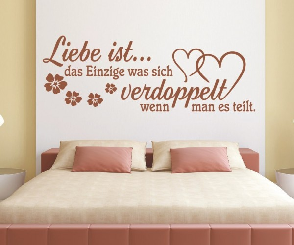 Wandtattoo - Liebe ist... das Einzige was sich verdoppelt wenn man es teilt. | 9