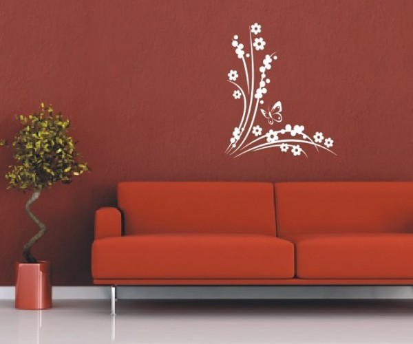 Wandtattoo - Blumenmotiv / Blumenranke   46
