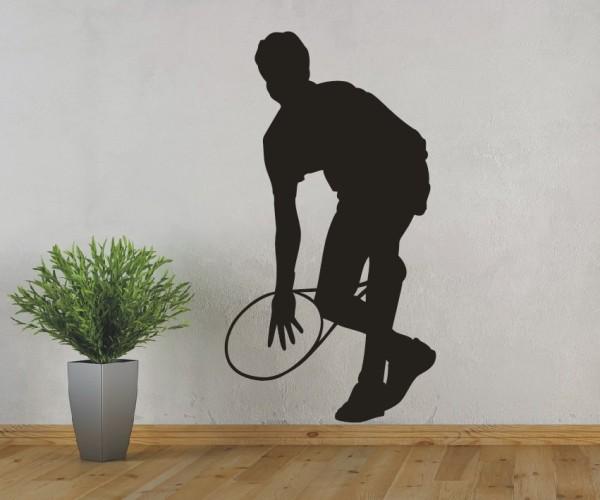 Wandtattoo - Tennis - Silhouette / Schattenmotiv - Variante 5
