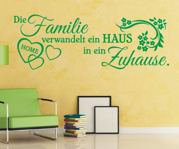 Wandtattoo - Die Familie verwandelt ein HAUS in ein Zuhause.   6