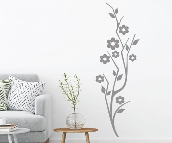 Wandtattoo - Blumenmotiv / Blumenranke   232