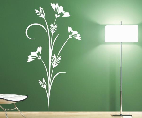 Wandtattoo - Blumenmotiv / Blumenranke - Variante 126