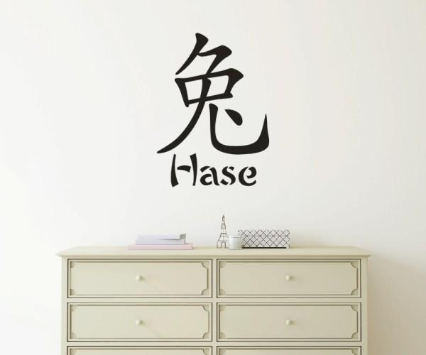 Wandtattoo - Chinesische Zeichen - Tierkreiszeichen/Sternzeichen - Variante 5