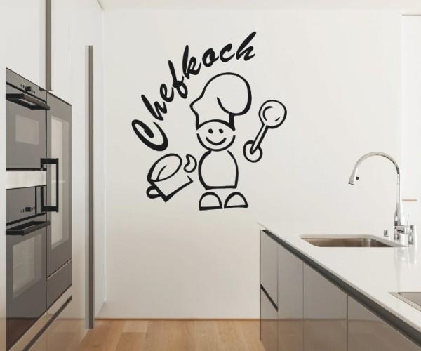 Wandtattoo - Küchen Wandtattoo - Koch Küche Esszimmer Coffeshop Wandbild Wanddeko