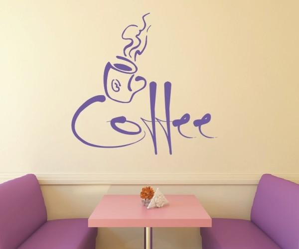 Wandtattoo - Küchen Wandtattoo - Tee Kaffee Küche Esszimmer Coffeshop Wandbild Wanddeko-9