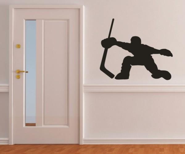 Wandtattoo - Eishockey - Silhouette / Schattenmotiv - Variante 3