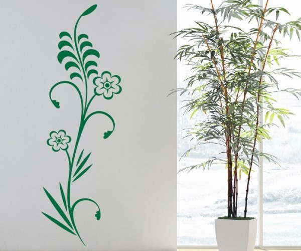 Wandtattoo - Blumenmotiv / Blumenranke - Variante 236