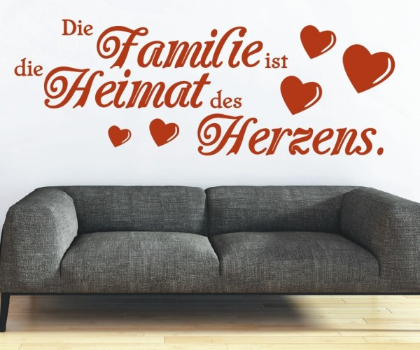 Wandtattoo - Die Familie ist die Heimat des Herzens.   9