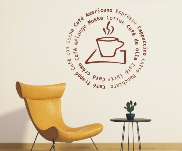Wandtattoo - Küche - Tee Kaffee Küche Esszimmer Coffeshop Wandbild Wanddeko-3