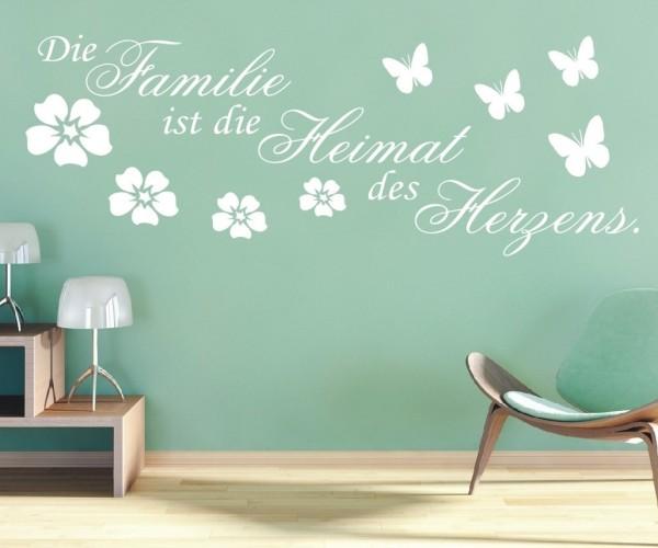 Wandtattoo - Die Familie ist die Heimat des Herzens. | 1