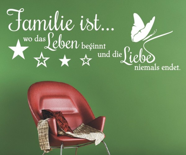 Wandtattoo - Familie ist... wo das Leben beginnt und die Liebe niemals endet.   14