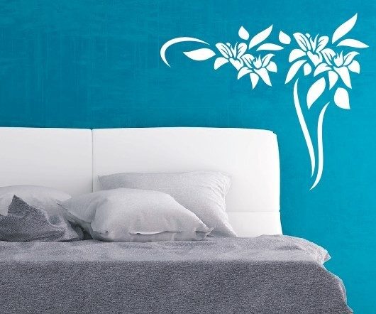 Wandtattoo - Blumenmotiv / Blumenranke - Variante 44
