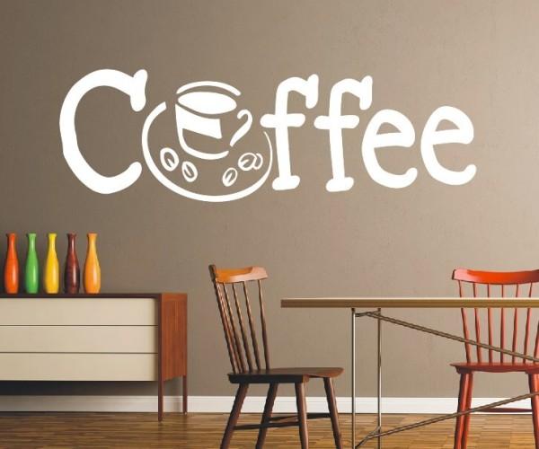 Wandtattoo - Küchen Wandtattoo - Tee Kaffee Küche Esszimmer Coffeshop Wandbild Wanddeko-23