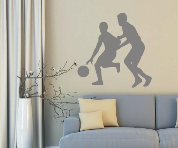 Wandtattoo - Basketball - Silhouette / Schattenmotiv - Variante 4