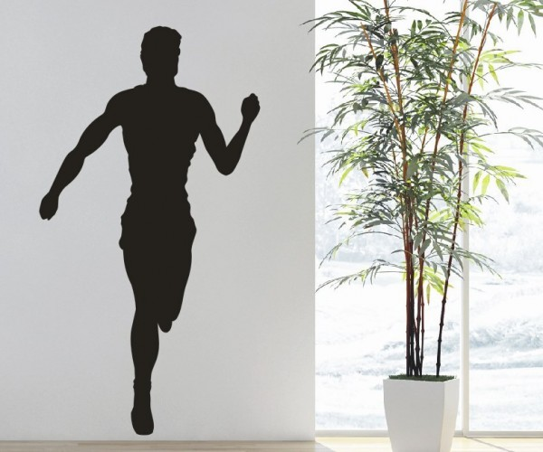 Wandtattoo - Leichtathletik - Silhouette / Schattenmotiv - Variante 7
