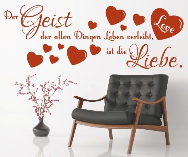 Wandtattoo - Der Geist der allen Dingen Leben verleiht ist die Liebe. | 2
