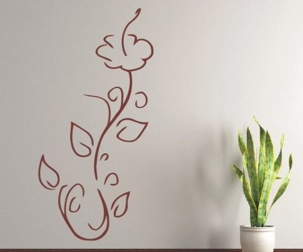 Wandtattoo - Blumenmotiv / Blumenranke - Variante 132