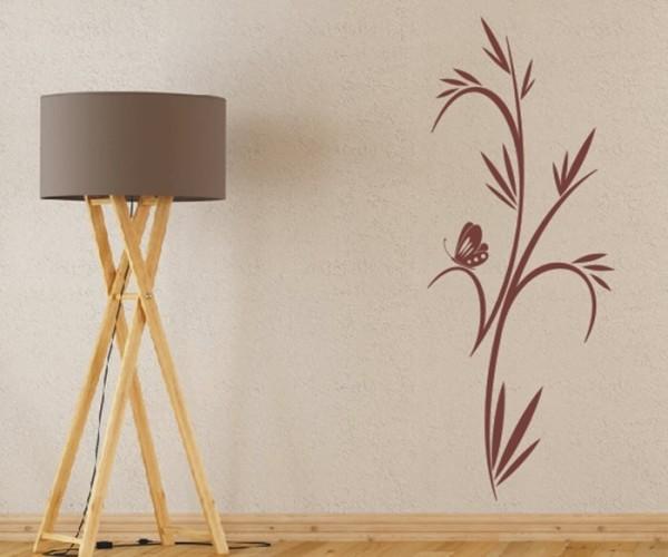 Wandtattoo - Blumenmotiv / Blumenranke - Variante 173