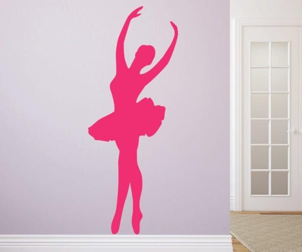 Wandtattoo - Ballett - Silhouette / Schattenmotiv - Variante 1