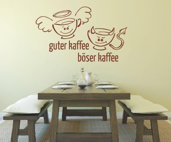 Wandtattoo - Küche - Tee guter böser Kaffee Küche Esszimmer Wandbild Wanddeko