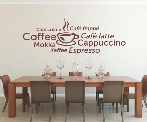 Wandtattoo - Küchen Wandtattoo - Tee Kaffee Küche Esszimmer Coffeshop Wandbild Wanddeko-21