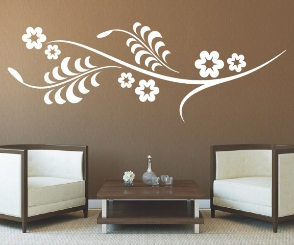 Wandtattoo - Blumenmotiv / Blumenranke - Variante 175