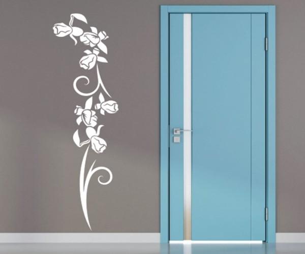 Wandtattoo - Blumenmotiv / Blumenranke - Variante 241