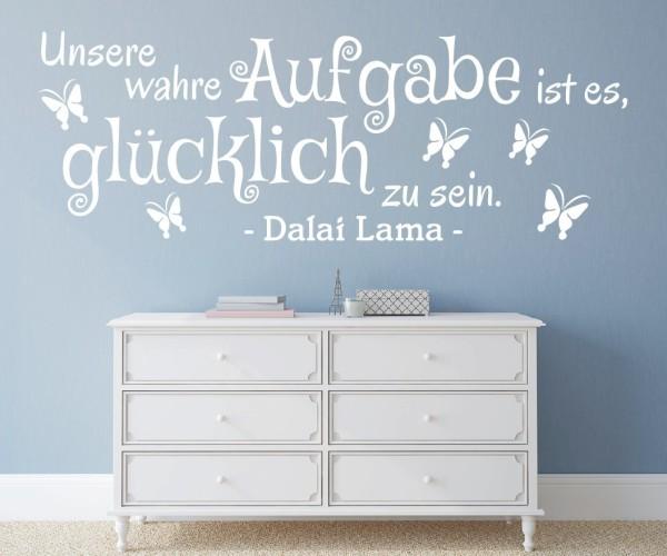 Wandtattoo - Unsere wahre Aufgabe ist es, glücklich zu sein. - Dalai Lama | 4