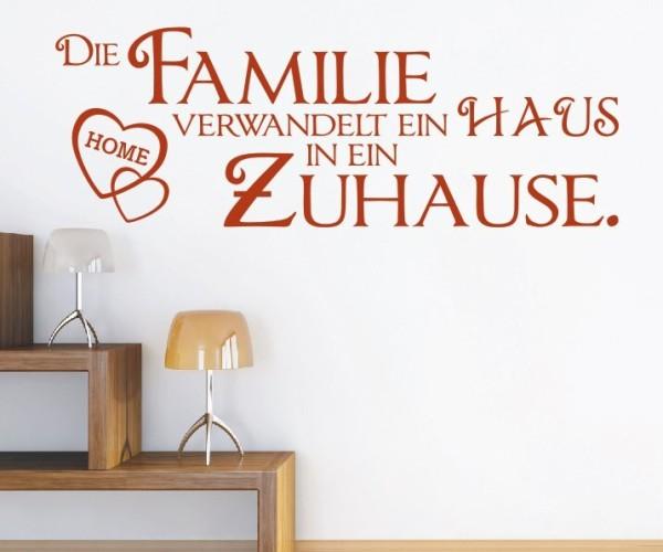 Wandtattoo - Die Familie verwandelt ein HAUS in ein Zuhause. - Variante 7
